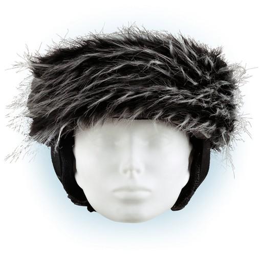 Čelenka na helmu černo-bílá - 33