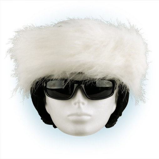Čelenka na helmu bílá - 34
